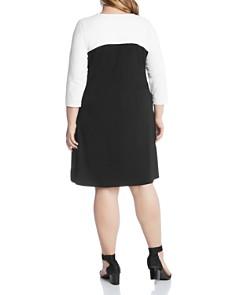 Karen Kane Plus - Color-Block Shift Dress