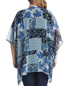Karen Kane Plus - Patchwork-Print Kimono