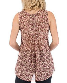 a5a3c4992925e ... B Collection by Bobeau - Lily Sleeveless Floral-Print Top