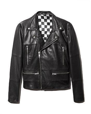 Deadwood - Classic Leather Biker Jacket