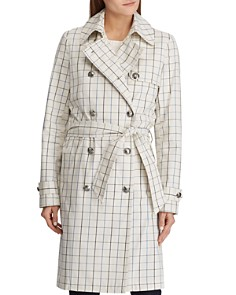 Ralph Lauren - Tattersall Check Trench Coat