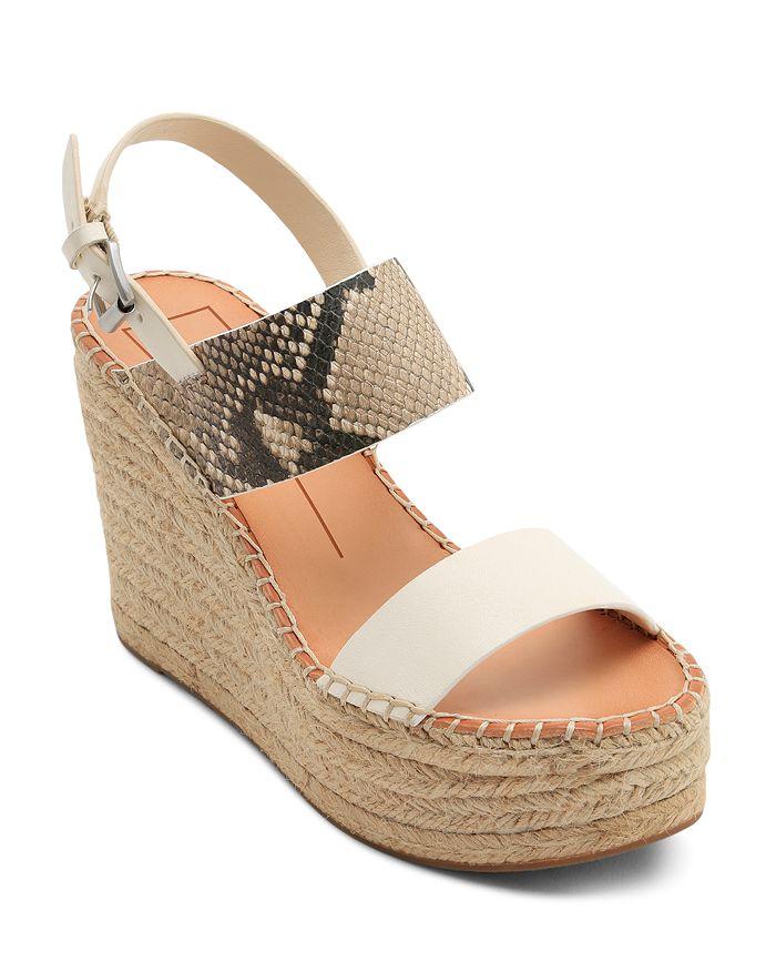 Dolce Vita - Women's Spiro Snake-Embossed Platform Sandals