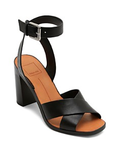 Dolce Vita - Women's Nala Block Heel Leather Sandals