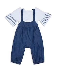 Habitual Kids - Girls' Raquel Bell-Sleeve Top & Overalls Set - Baby