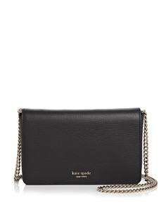 kate spade new york - Medium Chain Wallet Leather Crossbody