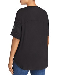 Marc New York Plus - V-Neck Mesh-Panel Tee