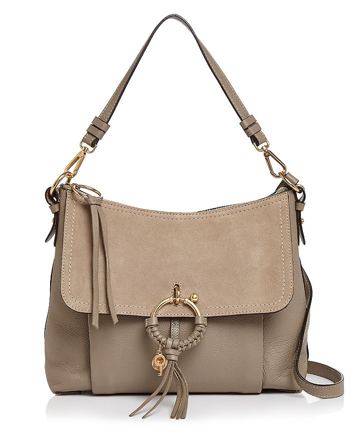 See By ChloÉ See By Chloe Joan Leather Shoulder Bag In Motty Gray/gold