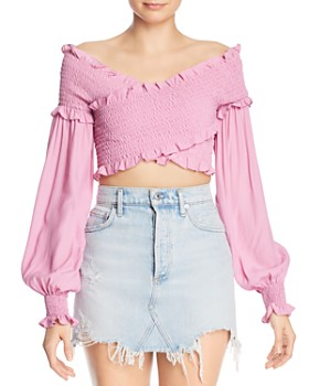 S/W/F - Max Off-the-Shoulder Crop Top