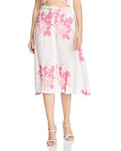 S/W/F - Plane Floral Midi Skirt