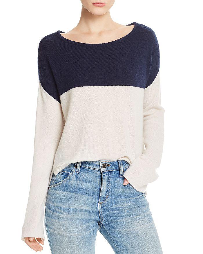 ATM Anthony Thomas Melillo - Color-Blocked Cashmere Sweater