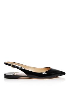 Jimmy Choo - Women's Erin Patent Leather Slingback Flats