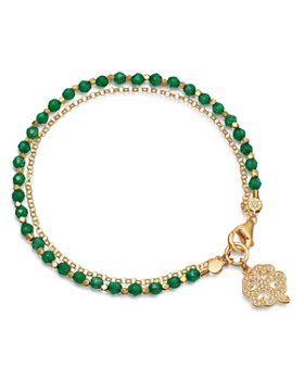 Astley Clarke - Four Leaf Clover Biography Bracelet in 18K Gold-Plated Sterling Silver