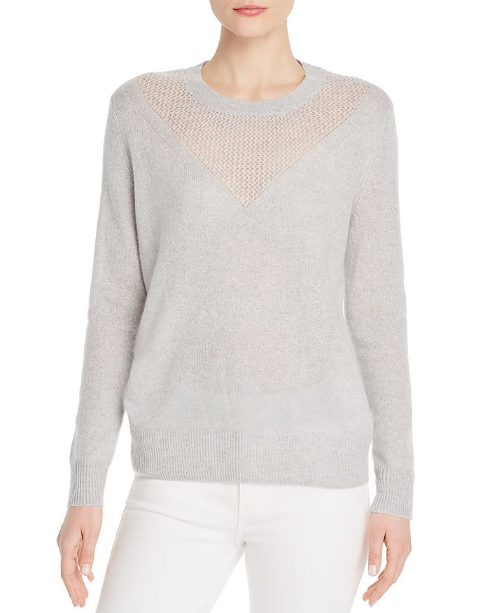 C by Bloomingdale's - Open-Knit Cashmere Sweater - 100% Exclusive