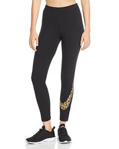 9379222c0 Nike Plus Animal Print Logo Leggings   Bloomingdale's