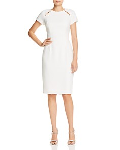 Adrianna Papell - Embellished Crepe Dress