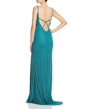 Mac Duggal - Beaded Fishtail Gown