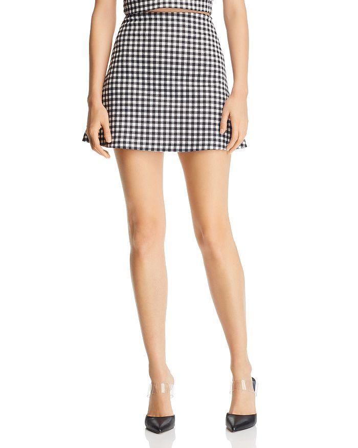 AQUA - Gingham A-Line Mini Skirt - 100% Exclusive