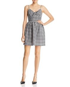 AQUA - Tie-Front Gingham Dress - 100% Exclusive