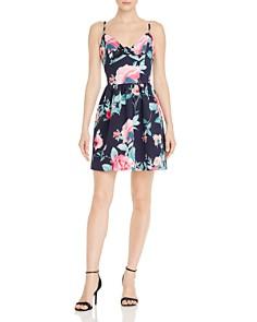 AQUA - Sleeveless Floral-Print Dress - 100% Exclusive