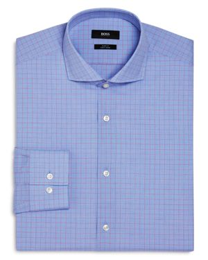 Boss Overchecked Slim Fit Dress Shirt