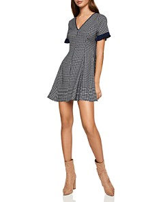 BCBGeneration - Plaid Fit-and-Flare Dress