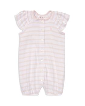 f39ad531765 Ralph Lauren - Ralph Lauren Girls  Striped Smocked Romper - Baby ...