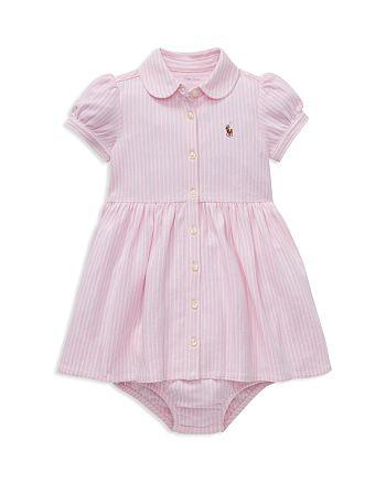 Ralph Lauren - Girls' Striped Oxford Dress & Bloomers Set - Baby