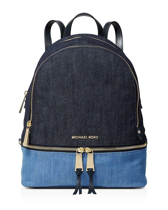 MICHAEL Michael Kors - Medium Rhea Color-Block Fabric Backpack