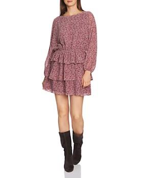 1.STATE - Ditsy Floral Print Ruffe Skirt Dress ... 14503f9f4