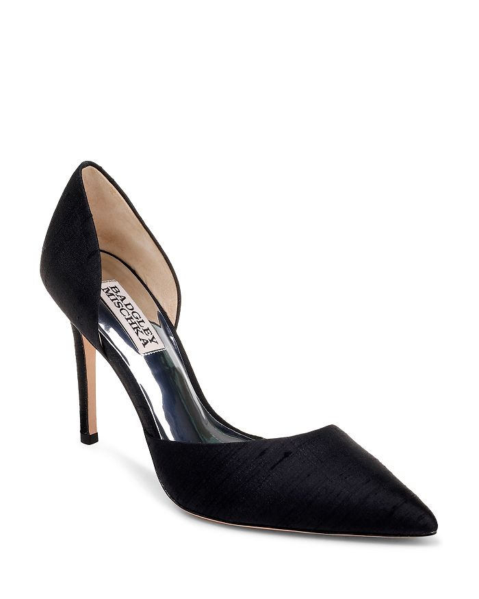 Badgley Mischka - Women's Lola Silk High-Heel Pumps