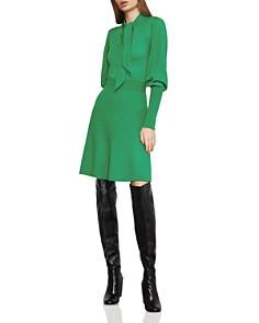 BCBGMAXAZRIA - Tie-Neck Sweater Dress