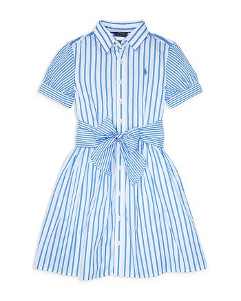 Ralph Lauren - Girls' Mixed-Stripe Fit-and-Flare Dress - Big Kid