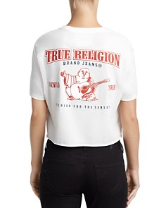 True Religion - Cropped Graphic Tee