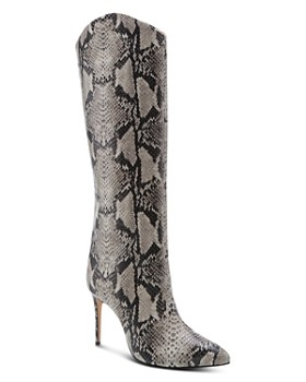 79131a4d9536 SCHUTZ - Women s Maryana Snake-Embossed High-Heel Boots ...
