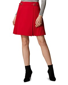 KAREN MILLEN - Pleated A-Line Skirt