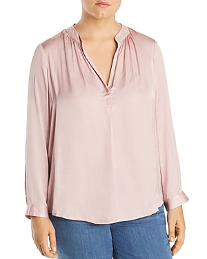 Nic+Zoe Plus Destination Shirred Top