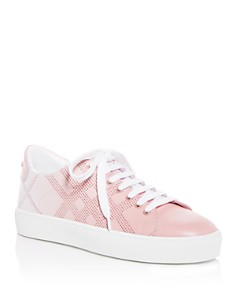 Burberry - Women's Westford Perforated Check Low-Top Sneakers