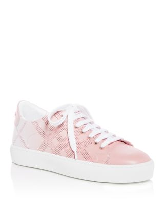 Women's Westford Perforated Check Low Top Sneakers by Burberry