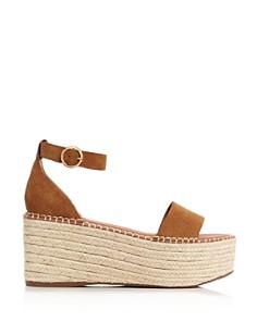 AQUA - Women's Ria Suede Espadrille Platform Sandals - 100% Exclusive