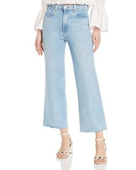 J Brand - Joan Ankle Wide-Leg Jeans in Aerglo