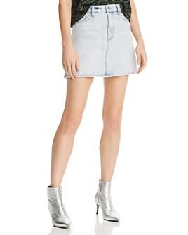 7 For All Mankind - Denim Mini Skirt in Cloud