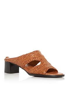 Aquatalia - Women's Elena Weatherproof Woven Block-Heel Slide Sandals