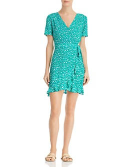 Sadie & Sage - Floral-Print Mini Wrap Dress