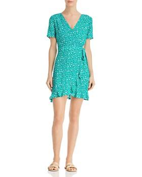 Sadie & Sage - Floral-Print Mini Wrap Dress