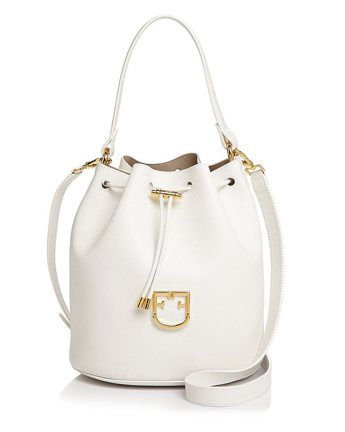 Furla - Corona Small Leather Bucket Crossbody