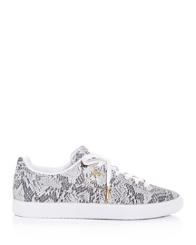 PUMA - Women's Clyde AO Snake-Embossed Low-Top Sneakers