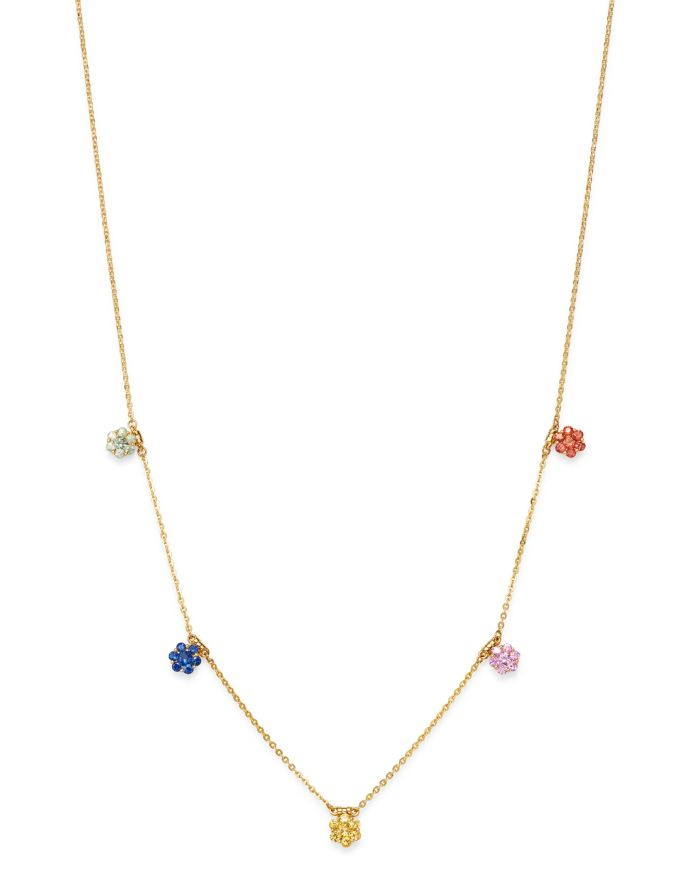 Bloomingdale's Rainbow Sapphire Station Necklace in 14K Yellow Gold - 100% Exclusive  | Bloomingdale's