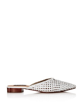 AQUA - Women's Leana Woven Leather Mules - 100% Exclusive