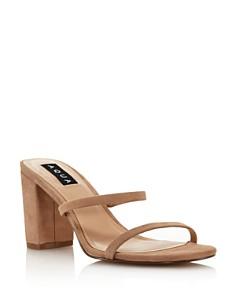 AQUA - Women's Adele Open-Toe Block High-Heel Sandals - 100% Exclusive