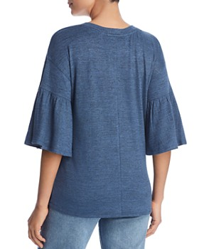 Cupio - Marled Bell Sleeve Top